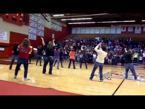 Liberal High School 2013 faculty dance team - charity basketball