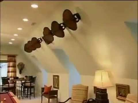 Punkah wallceiling mount fan by fanimation youtube mozeypictures Image collections