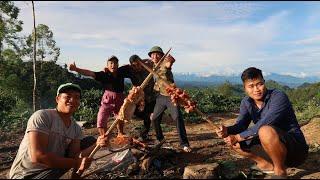 Tỏi cay ướp thịt nướng trên đồi | Hoa Ban Tây Bắc