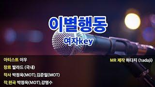 [하다지노래방] 이우 - 이별행동 MR (Ab 여key…