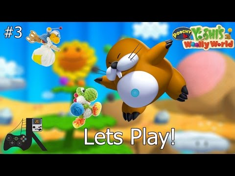 First Boss Fight (Big Montgomery) I Poochy and Yoshi's Woolly World  I Ep. 3
