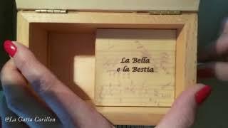 La Bella e La Bestia, Carillon Portagioie musicale personalizzato con spartito