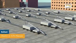 Durasun: montage zonnepanelen in portrait op een plat dak