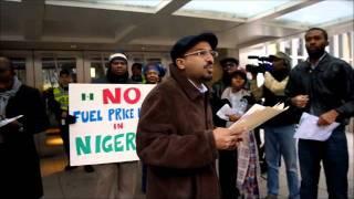 OCCUPY NIGERIA WASHINGTON,DC. PROTEST.wmv