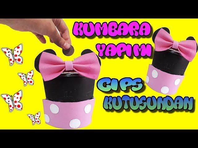Cips Kutusundan Kumbara Yap?m? ::Mini Mouse Kumbara ::Çok Kolay Kumbara Yap?m?
