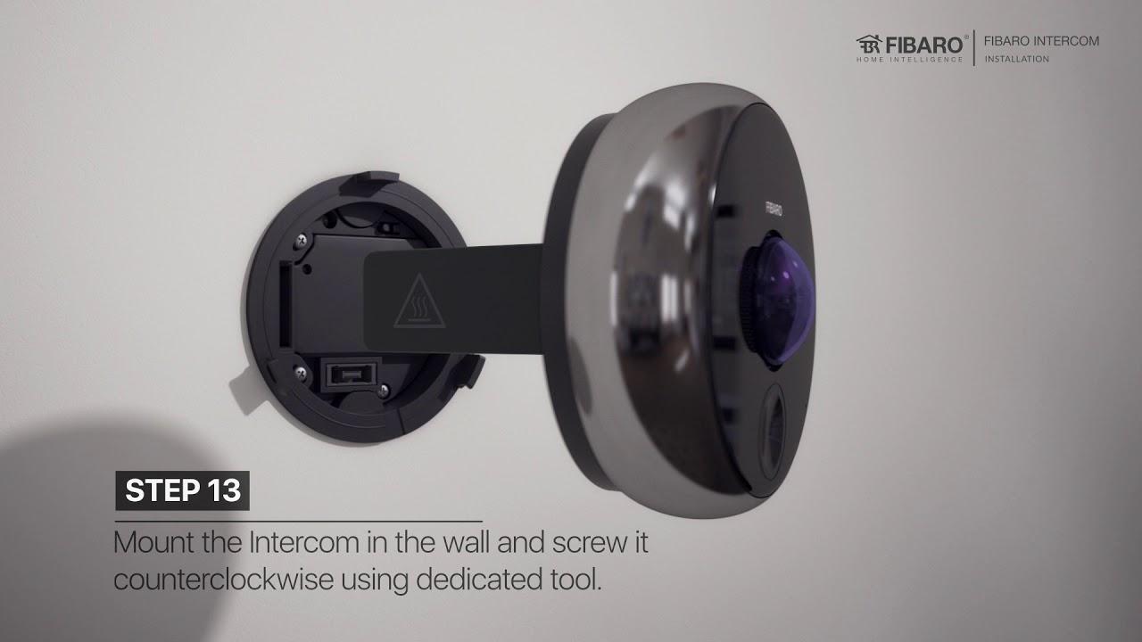 INTERCOM smart doorbell camera installation video on