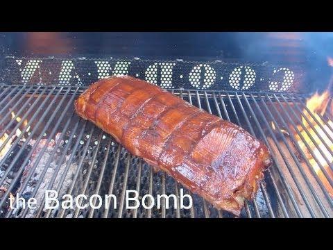 bacon explosion pork fatties recipe doovi. Black Bedroom Furniture Sets. Home Design Ideas