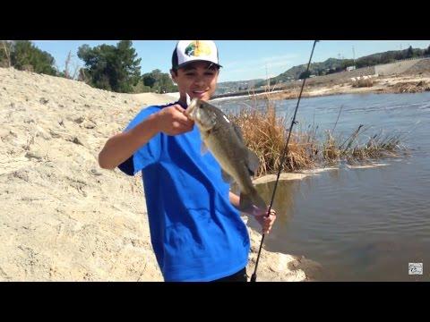 NICE BASS! Santa Ana River Fishing