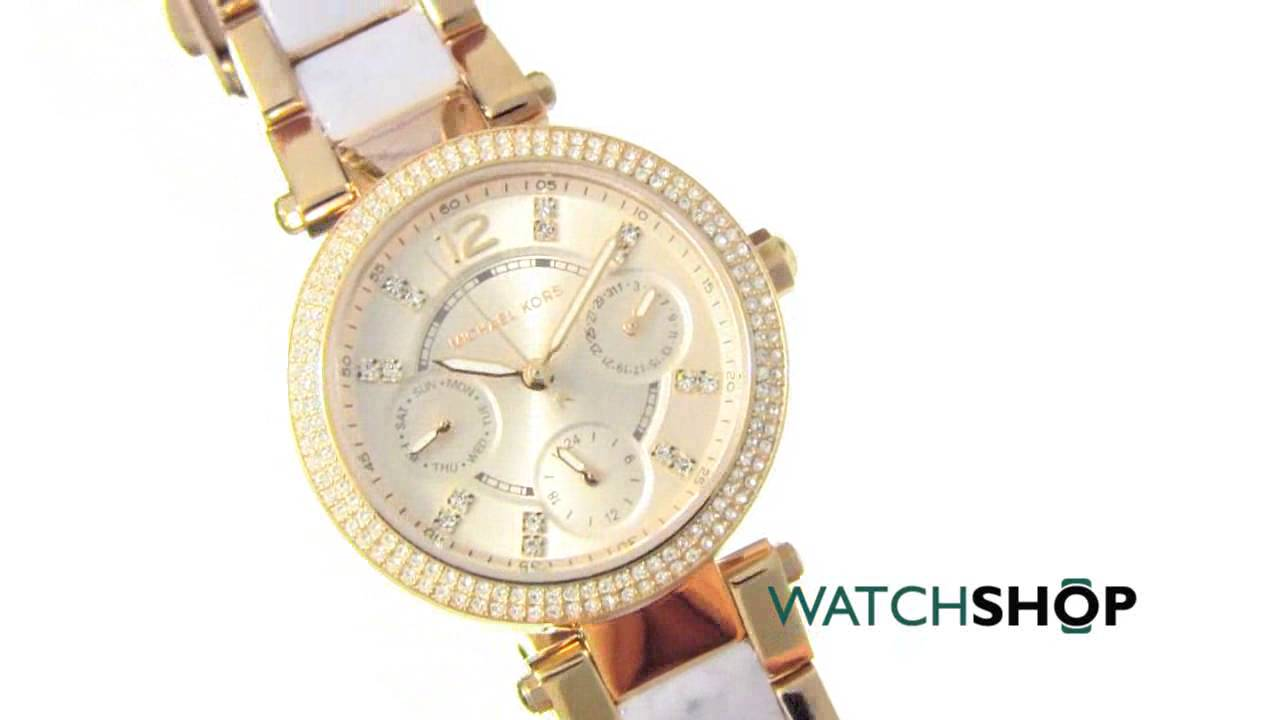 43d838d19470 Michael Kors Ladies  MINI PARKER Chronograph Watch (MK6327) - YouTube