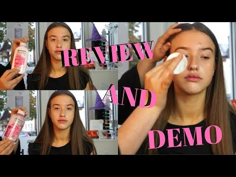 Garnier Skin Active Rose Water Cleansing Milk and Toner Review and Demo | Lucygfilmmakeup thumbnail