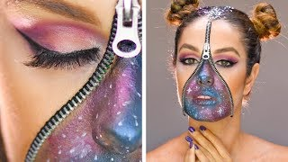 DIY Beauty Hacks | Be The Center of The Universe With This Stellar Galaxy Makeup & More Ideas
