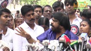 T. Rajendar Protest Against GST And Tamilnadu Issue