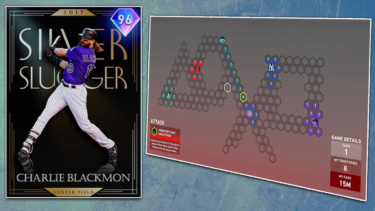 Charlie Blackmon is in Headliners and New Conquest Map MLB The Show 20 Diamond Dynasty