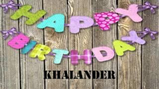 Khalander   wishes Mensajes
