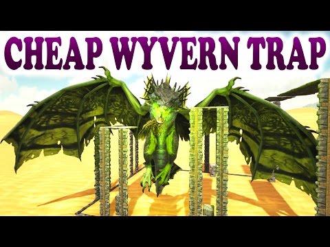 ARK - CHEAP & EASY WYVERN MILK FARM TRAP - How To Farm Wyverns - Scorched Earth