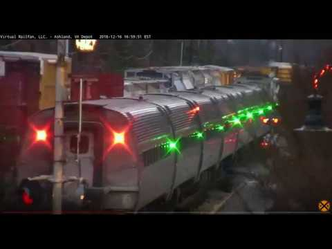 Beautiful race of Amtrak and CSX in Ashland