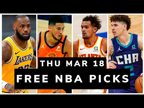 Free NBA Picks Today (Thu Mar 18, 2021) NBA Betting Picks, Vegas Odds, News and NBA DFS Picks