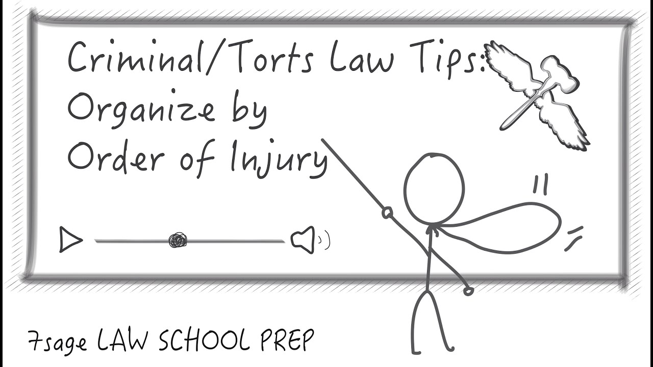 Criminal Law/Torts Law Tips: Organize Crim/Torts Exams by Order of Injury -  7Sage Law School Prep