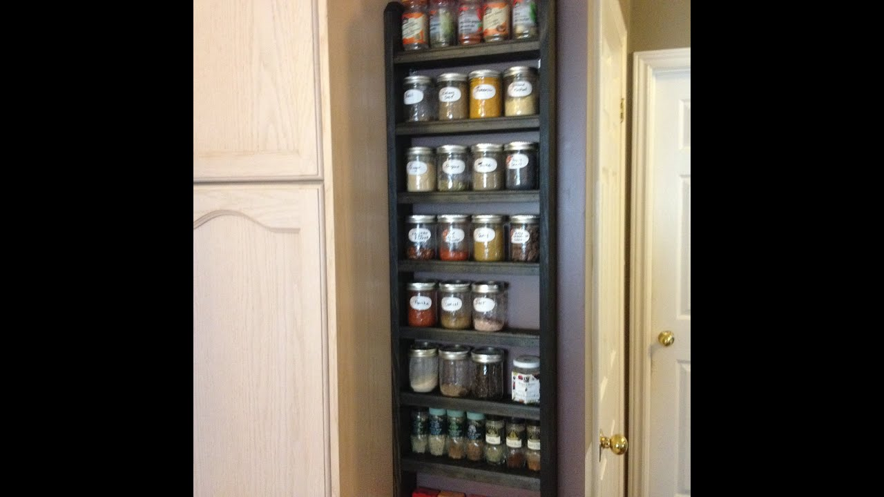 Simple Spice Rack Mason Jar Shelf Youtube