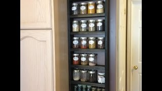 Simple Spice Rack - Mason Jar Shelf