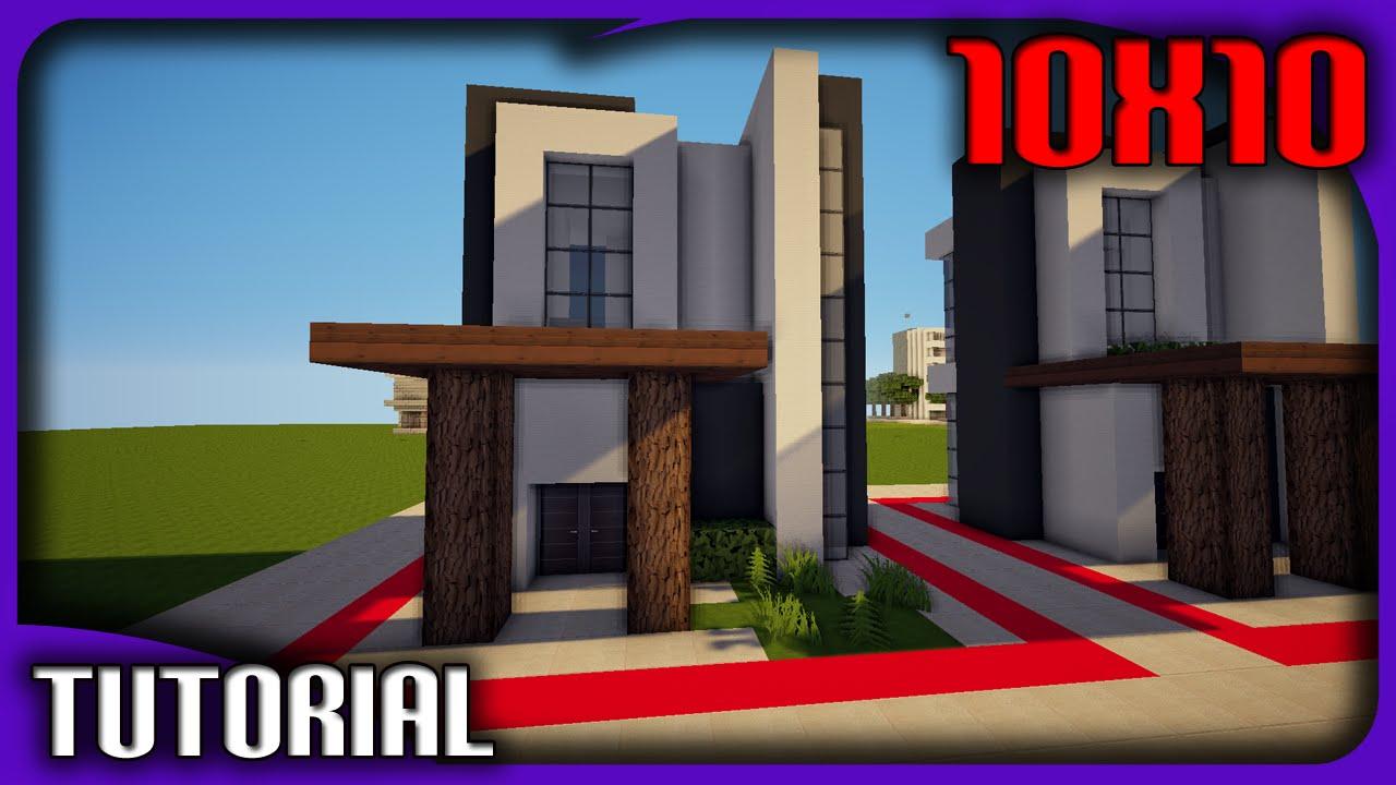 minecraft casa moderna 10x10 tutorial de