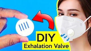 How To Make Exhalation Valve or Inhalation Valve for Dust Mask