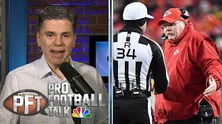 Chiefs' Andy Reid unhappy with officiating vs. Patriots | Pro Football Talk | NBC Sports