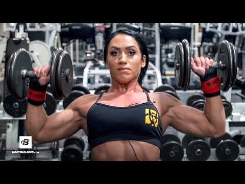 IFBB Figure Pro Shoulder Workout | Azaria Glaim
