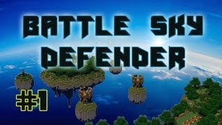 Minecraft | Battle Sky Defender | Map PVP 4VS 4 | Remix Bataille de la Terre Du Cube