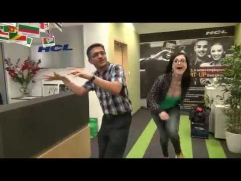 "Happy and cheerful HCL employees in ""ASPIRE is Happy"""