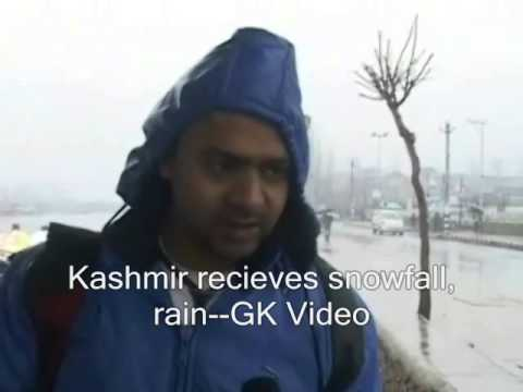 Kashmir receives snowfall, rain