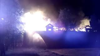 Пожар ул.Советская г.Северодвинск