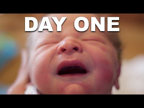 First Day Baby Unboxing and Pro Swaddling