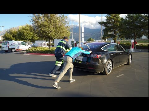 STRANDED Tesla Model 3! What Happens When You Run Out of Battery?