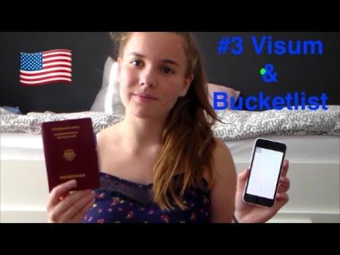 Auslandsjahr 2016/17 USA #3 Visum + Bucketlist