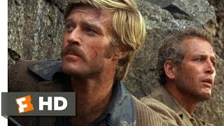 Butch Cassidy and the Sundance Kid (3/5) Movie CLIP - Off the Cliff (1969) HD