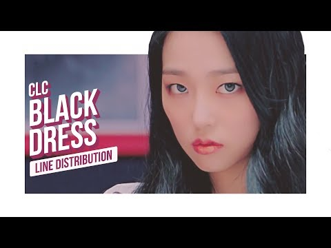 CLC - BLACK DRESS Line Distribution (Color Coded)   씨엘씨 - 블랙드레스