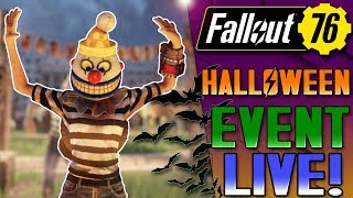 NEW HALLOWEEN EVENT! - MISCHIEF NIGHT - FALLOUT 76 FREE UPDATE! - LIVE