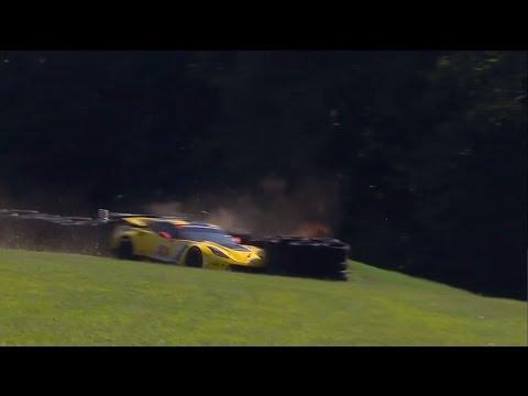 IMSA 2016. Virginia International Raceway. Oliver Gavin Crash