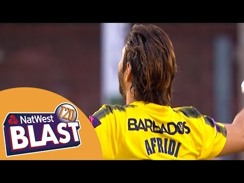 Shahid Afridi Makes 42Ball Century In Massive Score  Derbyshire v Hampshire NatWest T20 Blast 2017