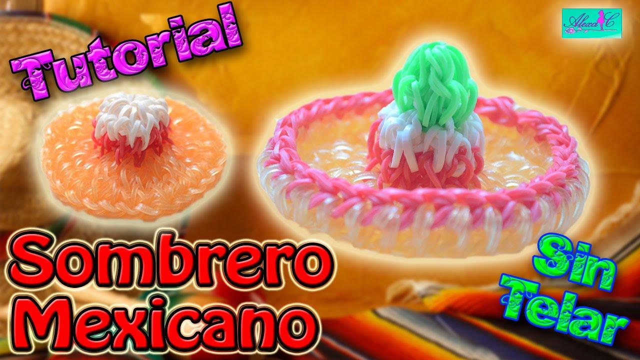 ♥ Tutorial  Sombrero Charro o Mexicano de gomitas en 3D (sin telar) ♥ -  YouTube 0b3a580c821