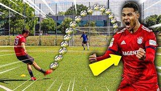 SERGE GNABRY FUßBALL CHALLENGE + VERLOSUNG!