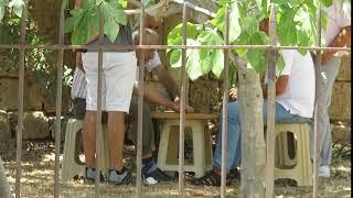 Турки играют в нарды в Фамагусте (Кипр)