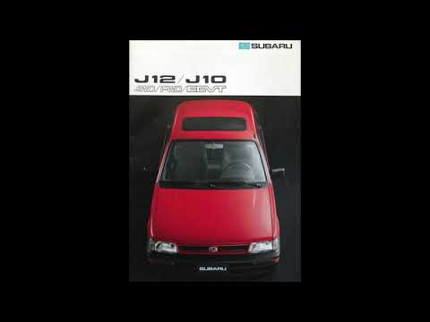 Subaru Justy J10 /J12 Catálogo 1989