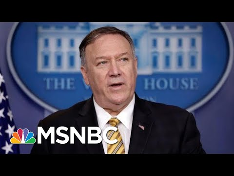 Mike Pompeo On John Bolton Firing: Trump 'Entitled To Staff That He Wants'   Velshi & Ruhle   MSNBC