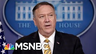 Mike Pompeo On John Bolton Firing: Trump 'Entitled To Staff That He Wants' | Velshi & Ruhle | MSNBC