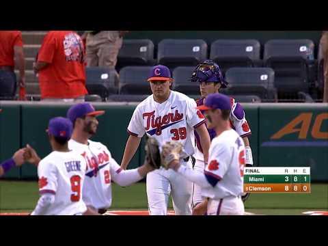 Clemson Baseball || Miami (Fla.) Game Highlights - 4/14/18 (Game 2)
