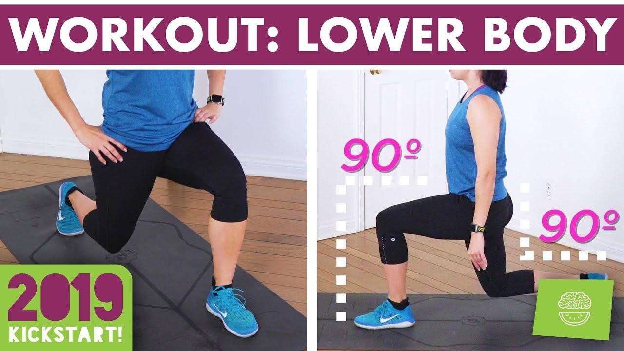20 Minute Lower Body Burn Home Workout - No Equipment Legs, Booty & Abs! #kickstart2019