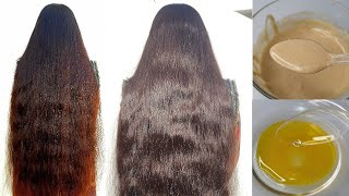 Fast Hair Growth STOP Hair Fall 100 Natural Mask For Long Silky Straight Hair at Home