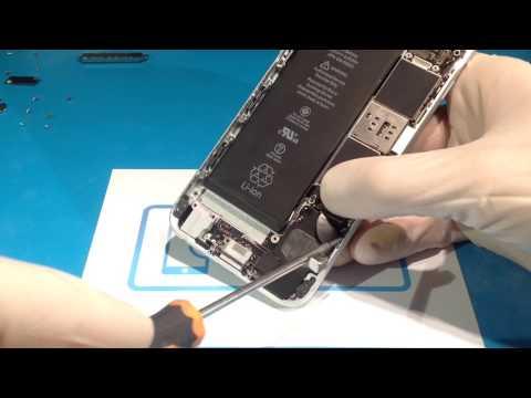 как снять шлейф зарядки iPhone 6s